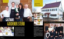 """Artikel in der Zeitschrift """"La Madia, Travel News"""" über Gastgaus Goldener Stern"""