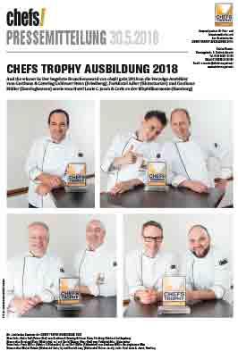 Chefs Trophy 2018 Pressemitteilung