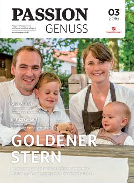 """Artikel in der Zeitschrift """"Passion Genuss"""" 03/2016 über Gasthaus Goldener Stern"""