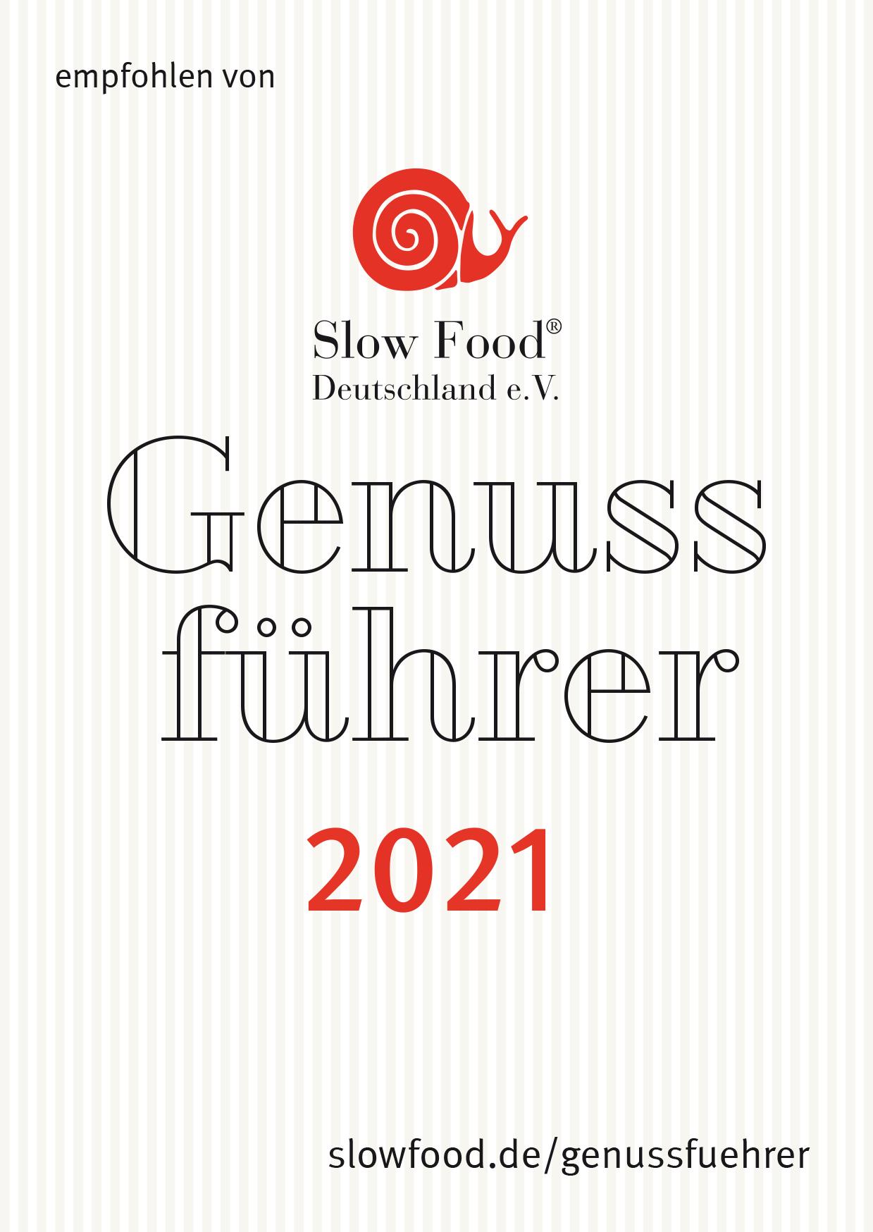 Slow Food Auszeichnung